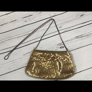 80's gold mesh shoulder bag vintage gold purse